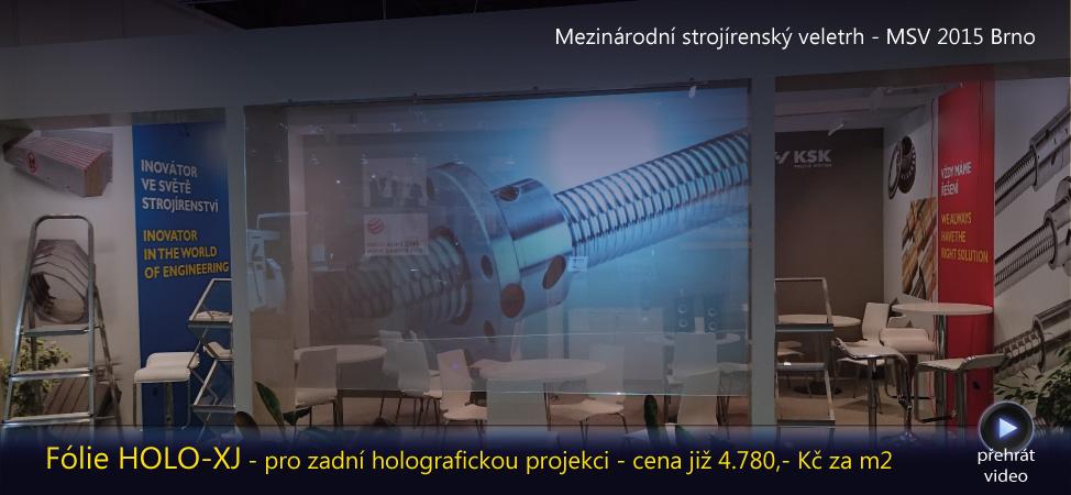 Holo 3D projekce